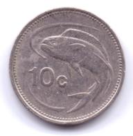 MALTA 1986: 10 Cents, KM 76 - Malta
