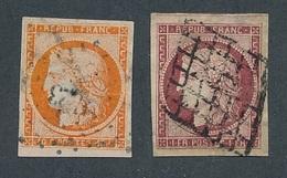 """DP-4: FRANCE: Lot Avec """"CERES"""" N°5/6 Obl, Reparés, Replaqué ( Tentative Pour Essayer Un 4 Retouché !!) - 1849-1850 Cérès"""