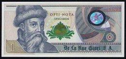 """Echantillon DE LA RUE """"Gutenberg - Grüne Distel"""" Testnote, Mit Intaglio, Eins. Druck, RRR, UNC - Banknotes"""
