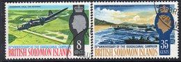 Solomon Islands 1967 25th Anniversary Of Guadalcanal Campaign Set Of 2, Used, SG 160/1 (B) - Salomonseilanden (...-1978)