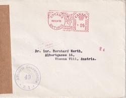 CANADA 1953 LETTRE CENSUREE  EMA DE OTTAWA POUR VIENNA - 1952-.... Reign Of Elizabeth II