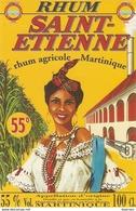 ETIQUETTES RHUM AGRICOLE SAINT ST ETIENNE GROS MORNE MARTINIQUE 50° 100CL - Rhum