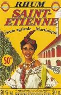 ETIQUETTES RHUM AGRICOLE SAINT ST ETIENNE GROS MORNE MARTINIQUE 50° 50CL - Rhum