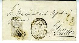 Espagne 1873 Lettre De CALAÑAS  à  HUELVA   12c Amédée  Cachet ALCALDIA    LC72C - 1872-73 Reino: Amadeo I
