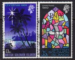 Solomon Islands 1969 Christmas Set Of 2, Used, SG 189/90 (B) - Salomonseilanden (...-1978)
