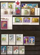 (Fb).Liechtenstein.1986.Serie Complete Nuove,gomma Integra,MNH (67-20) - Liechtenstein