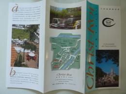 """Pieghevole Pubblicitario Illustrato """"CHRIST ROI HOTEL LOURDES"""" Anni '90 - Tourism Brochures"""