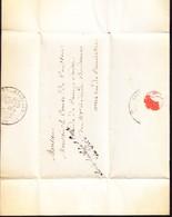 1827 Faltbrief Aus Paris An Comte De Courten, Aide Des Camp Suisse. Stempel Service Des Aides Des Camp Du Roi. - Documents Historiques
