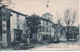 CPA C32 ALLEMAGNE La Place Commerces-fontaine-clocher-statue-petite Animation - Autres Communes