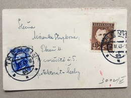 SLOVAKIA 1943 Cover With Trencin Postmarks - German Censor Cachet To Rear - Covers & Documents