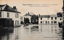 [08] Signy L'Abbaye Inondation Du 31 Juillet 1910 Crue En Décroissance Boulangerie épicerie - Unclassified