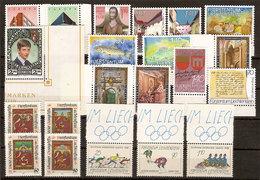 (Fb).Liechtenstein.1987.Serie Complete Nuove,gomma Integra,MNH (68-20) - Liechtenstein