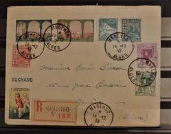 05 - 20 // Algérie - TB - Lettre De Marengo à Destination De Genève - Suisse + Pub Chocolat Suchard - Algeria (1924-1962)