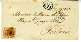 Espagne 1873 Lettre De MADRID à TOULOUSE  JURA  40C Amédée Unif N° 125   LC72 I - 1872-73 Königreich: Amédée I.