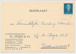 Firma Briefkaart Beverwijk 1951 - Bloemenmagazijn - Ohne Zuordnung