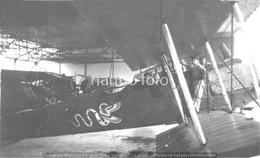 PHOTO AVION     BREGUET 14 DANS HANGAR 12° RAB 1° ESC 1925      RETIRAGE REPRINT - Aviation