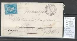 France - Lettre - GC 3756 - SAINT MARTIN D'ESTREAUX - Loire -1866 - Poststempel (Briefe)