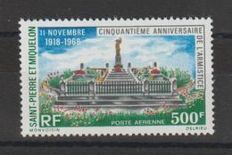 Saint Pierre Et Miquelon 1968 Cinquantenaire De L'armistice PA 42 Neuf ** MNH - Airmail