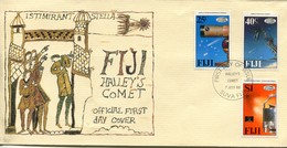 Fiji Mi# 545-7 FDC - Space Return Of Halley's Comet - Fidji (1970-...)