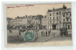 59 CAMBRAI LES HOTELS ET LA PLACE AU BOIS N° 58 DILIGENCE ATTELAGE - Cambrai