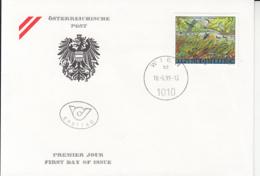 EUROPA CEPT, DANUBE-AUEN NATIONAL PARK, COVER FDC, 1999, AUSTRIA - 1999