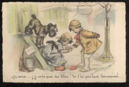 CPA Illustrée Germaine Bourret - Je Vois...j'y Vois Que Du Bleu ! ...Non Circulée - Bouret, Germaine