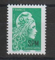 St Pierre Et Miquelon 2018-19 Marianne Engagée Verte ** MNH - Unused Stamps
