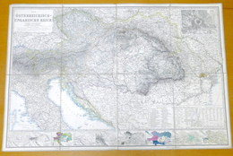 Carta Geografica Regno Austro-Ungarico - Osterreichisch Ungarische Reich - 1871 - Otras Colecciones