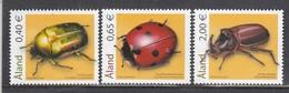 Aland 2006 - Insects: Kaefer, Mi-Nr. 259/61, MNH** - Aland