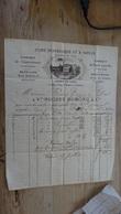 Facture : Usine Hydrolique Et A Vapeur, Vve Hugues Dumond & Cie, A Lyon En 1872 .................. F-18 - 1800 – 1899