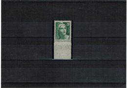 VARIETE - GANDON 20f VERT PÂLE Y/T N° 728a **TB - Curiosities: 1945-49 Mint/hinged