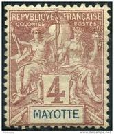 Mayotte (1892) N 3 * (charniere) - Neufs