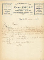 FA  2091  -  FACTURE  -  PIANOS & HARMONIUMS A SAINTE CECILE  RENE FADAT   GAP - 1900 – 1949