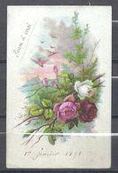 Petite Carte Du 1 Janvier 1891 - New Year