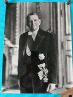 PHOTOGRAPHIE 1954 PORTRAIT OFFICIEL DU NOUVEAU PRESIDENT DE LA REPUBLIQUE FRANCAISE RENE COTY PHOTO GREFF - Personalità