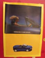 """Publicité Renault Mégane Cabriolet Avec ABS En Série. Image """"magique"""" En Couverture - Advertising"""