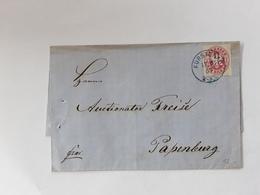 BRIEF AFSTEMPELING IN BLAUW VAN FÜRSTENAU 1867 - Preussen