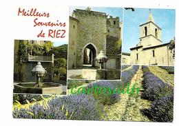 04 RIEZ - MEILLEURS SOUVENIRS - MULTI-VUES - Autres Communes
