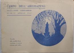 CAMPO DELL'ARCOBALENO - VILLA ESTE - CERNOBBIO  25-26-27 APRILE 1947 VIAGGIATA 1954 - Scoutismo