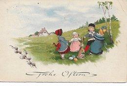 L130A931 - Frohe Ostern - Joyeuses Paques - Dessin D'un Groupe D'enfants Faisant La Ronde - BR N°8323 - Children's Drawings
