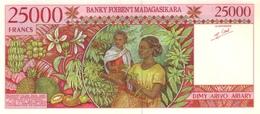 MADAGASCAR P. 82 25000 F 1998 UNC - Madagascar