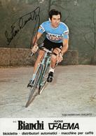 CARTE CYCLISME GIACINTO SANTAMBROGIO TEAM BIANCHI - FAEMA 1978 FORMAT 11,7 X 16,7 - Cyclisme
