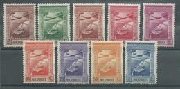 200035182  MOZAMBIQUE  YVERT  AEREO  Nº 1/9  */MH - Mozambique