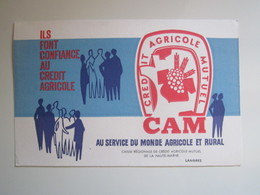 """Ancien Buvard Publicitaire """"Crédit Agricole Mutuel CAM"""" De LANGRES (52) - Bank & Insurance"""