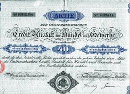 OESTERREICHISCHE CREDIT-ANSTALT Für HANDEL Und GEWERBE - Banque & Assurance