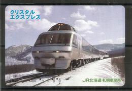 Hokkaido Railway Company. Japan.  (card-type Ticket) - Trains