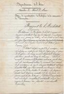 Rapport De L'architecte Sur Le Projet De Reconstruction Du Presbytère De Varambon (01), 19/9/1868 - Historical Documents