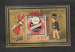 Chromo Doré Biscuits OLIBET ''Grande Exposition Internationale..'' 7,3x11,5 OTTIMO STATO - Confetteria & Biscotti