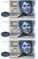 3 Billetes De 500 Pesetas Año 1979 - [ 3] 1936-1975 : Régimen De Franco