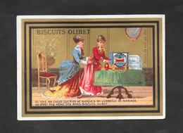 Chromo Doré Biscuits OLIBET ''Tu Vois Ma Chère Que Rien..'' 7,8x12 OTTIMO STATO - Confetteria & Biscotti